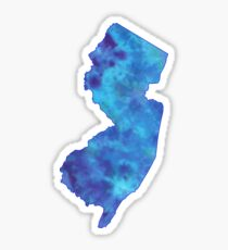 New Jersey Tye Dye Sticker