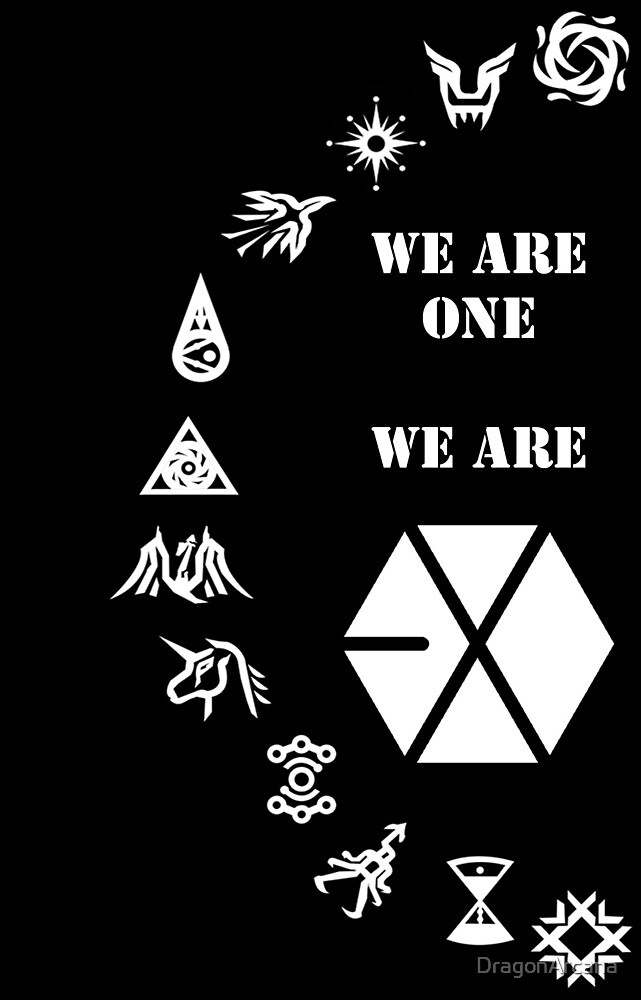 Quot Exo Mama Symbol Iphone Case Black Quot By Dragonarcana