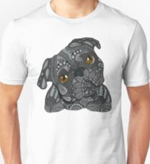 Cute black Pug Unisex T-Shirt