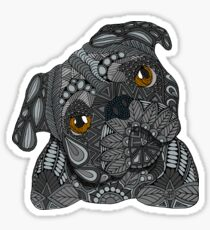 Cute black Pug Sticker