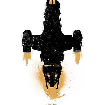 Big Damn Heroes - Updated Firefly / Serenity Silhouette by KodiSershon