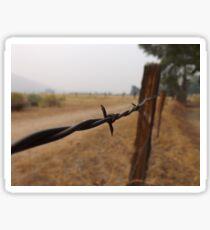 Barb Wire Fence Sticker
