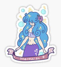 Blue-haired Mermaid Girl Sticker