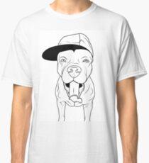 dogs, cute puppy pitbull Classic T-Shirt