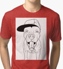 dogs, cute puppy pitbull Tri-blend T-Shirt