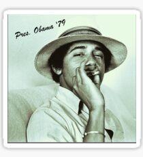 OBAMA BLOWS SMOKE Sticker