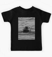 BW Smiling Sea Otter-Seward Alaska Kids Tee