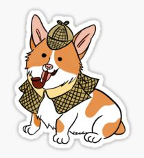 Sherlock Corgi  Sticker