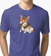 Sherlock Corgi  Tri-blend T-Shirt