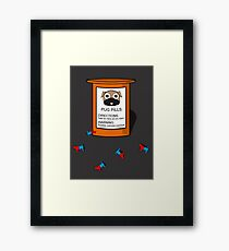 Pugs but drugs Framed Print