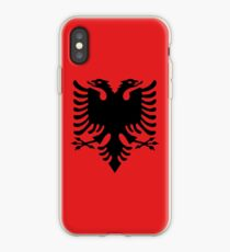 Albanian national flag in authentic color and scale. iPhone Case