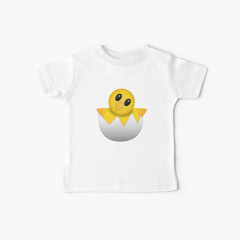 Brütendes Babyküken Emoji Baby T-Shirt