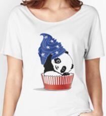 Panda America Cupcake  Women's Relaxed Fit T-Shirt