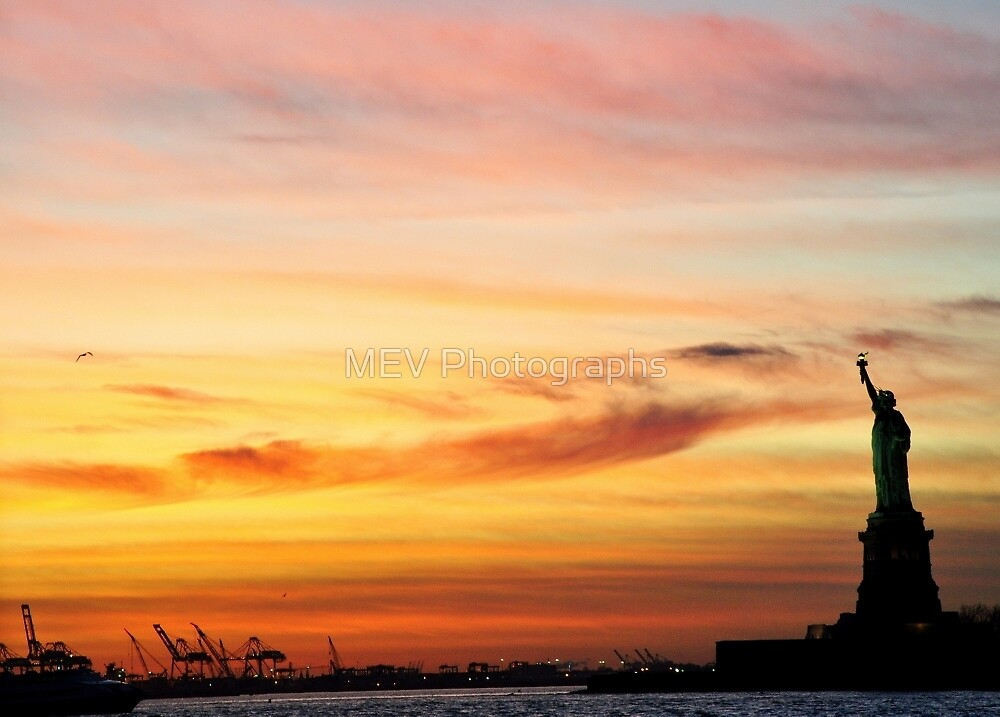 Liberty Sunset by MEV Photographs