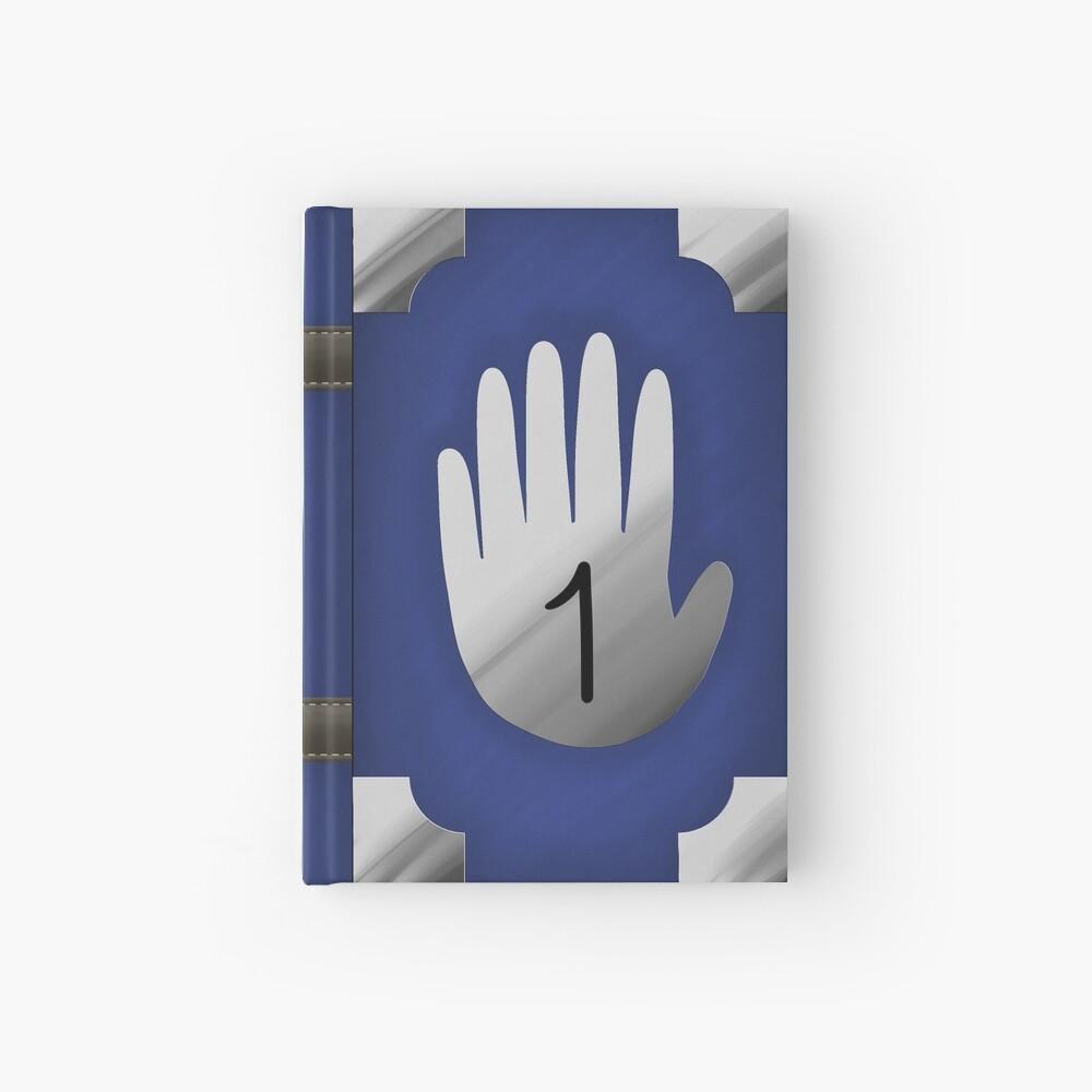 Gravity Falls Inspired Handprint Journal 1, BLUE Hardcover Journal
