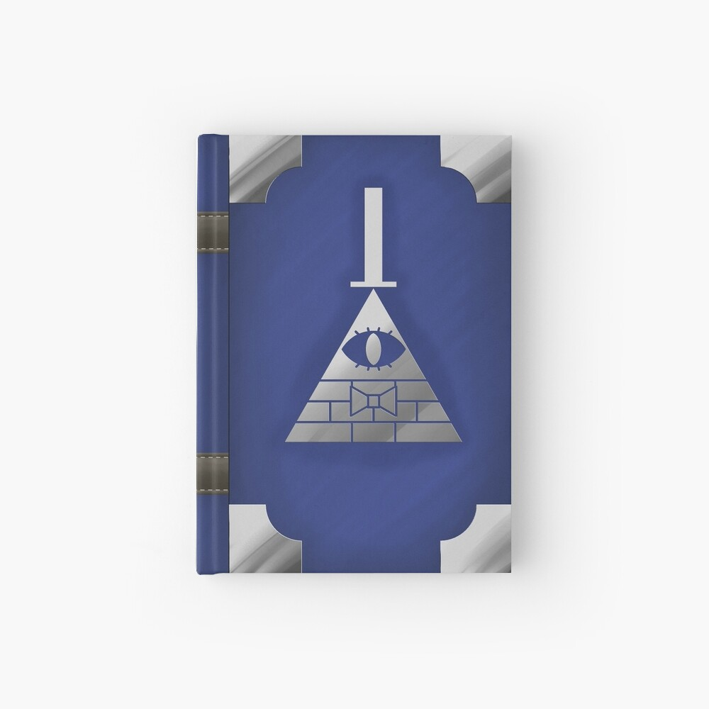 Gravity Falls Inspired Book of Cipher, BLUE Hardcover Journal