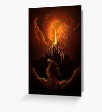 Dragon Born, Volcano Dragon Greeting Card