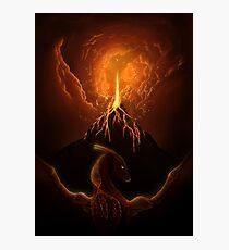Dragon Born, Volcano Dragon Photographic Print