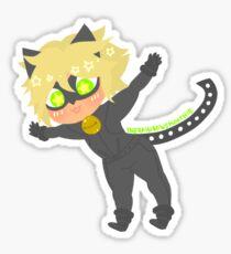 Babychub Chat Noir Sticker Sticker