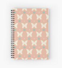 Cute butterflies and flowers Spiral Notebook