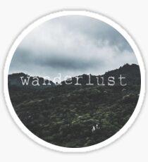 Pegatina Montañas Wanderlust