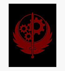 Brotherhood of Steel Emblem (Red) Photographic Print