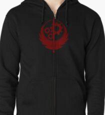 Brotherhood of Steel Emblem (Red) Zipped Hoodie