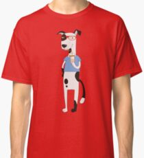 Funny Cartoon Pets Dog With Coffee Classic T-Shirt