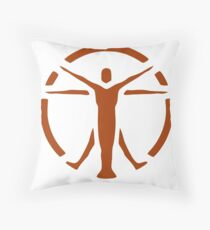 The Institute (orange logo) - Fallout 4 Throw Pillow
