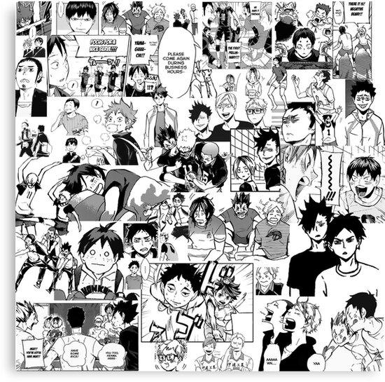 """Haikyuu Manga Order: """"Haikyuu!! - Manga Collage"""" Canvas Print By Sylnae"""