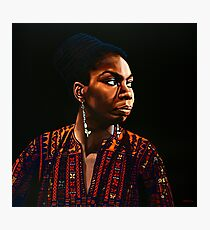 Nina Simone Painting Photographic Print