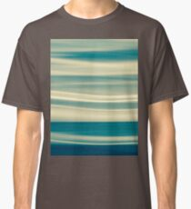Retro effect coastal abstract wavy clouds over horizon Classic T-Shirt