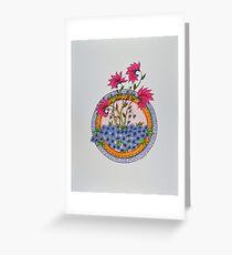 Mandala/10 - Flowers/3 Greeting Card