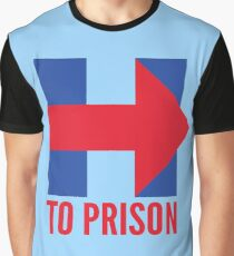 Hillary Clinton To Prison (Logo) Graphic T-Shirt