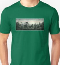 Soaring Eagle above Mystic Forest T-Shirt