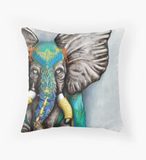 """Elegant Elephant"" Throw Pillow"