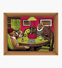 Dogs Playing Dungeons & Dragons Photographic Print