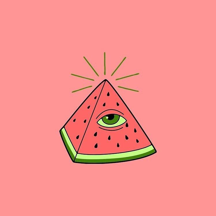 Illuminati Watermelon  by aboxofcrackerz