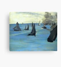 Steamboat leaving Boulogne - Edouard Manet  Canvas Print