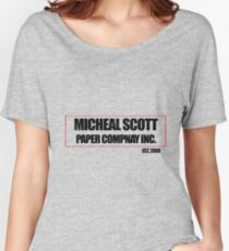 Micheal Scott Paper Company Tee Women's Relaxed Fit T-Shirt