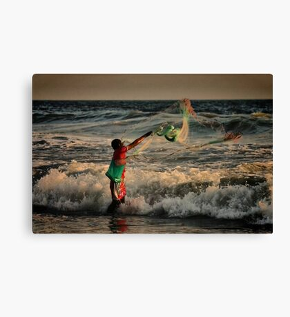 Mexican Net Fisherman Canvas Print