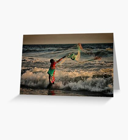 Mexican Net Fisherman Greeting Card