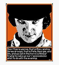 A Clockwork Orange - 8-bit Photographic Print