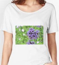 Macro on purple spring flowers. Women's Relaxed Fit T-Shirt