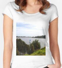 Lakes Entrance Victoria Women's Fitted Scoop T-Shirt