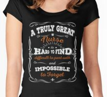 A Truly Great Nurse Women's Fitted Scoop T-Shirt