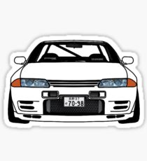 SKYLINE R32 GTR PLAIN WHITE JDM Sticker