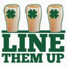 Line them up 3 beers lined up IRISH shamrock beers by jazzydevil