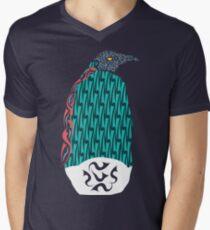 Abstract Penguin Men's V-Neck T-Shirt