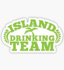 ISLAND holiday DRINKING TEAM Sticker